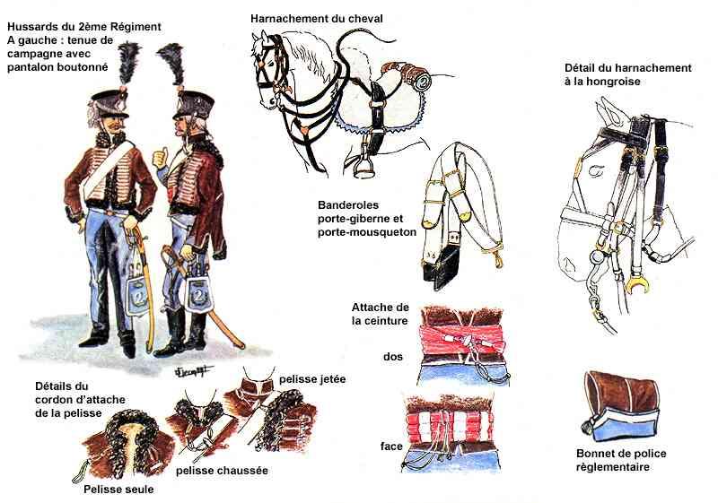 1er EMPIRE Hussards_2eme_planche_couleurs